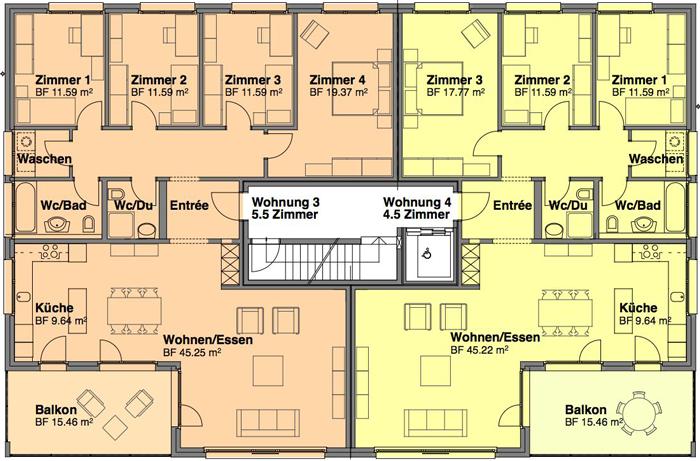 MEBACO GmbH :: Mietwohnungen Bernardastrasse II Haus 4